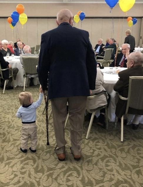 Dr. H. Hughes and great grandson